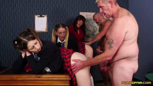 PureCFNM 18 04 06 Melody Pleasure Pandora Smith And Star Del Ray Skirts Up Girls XXX
