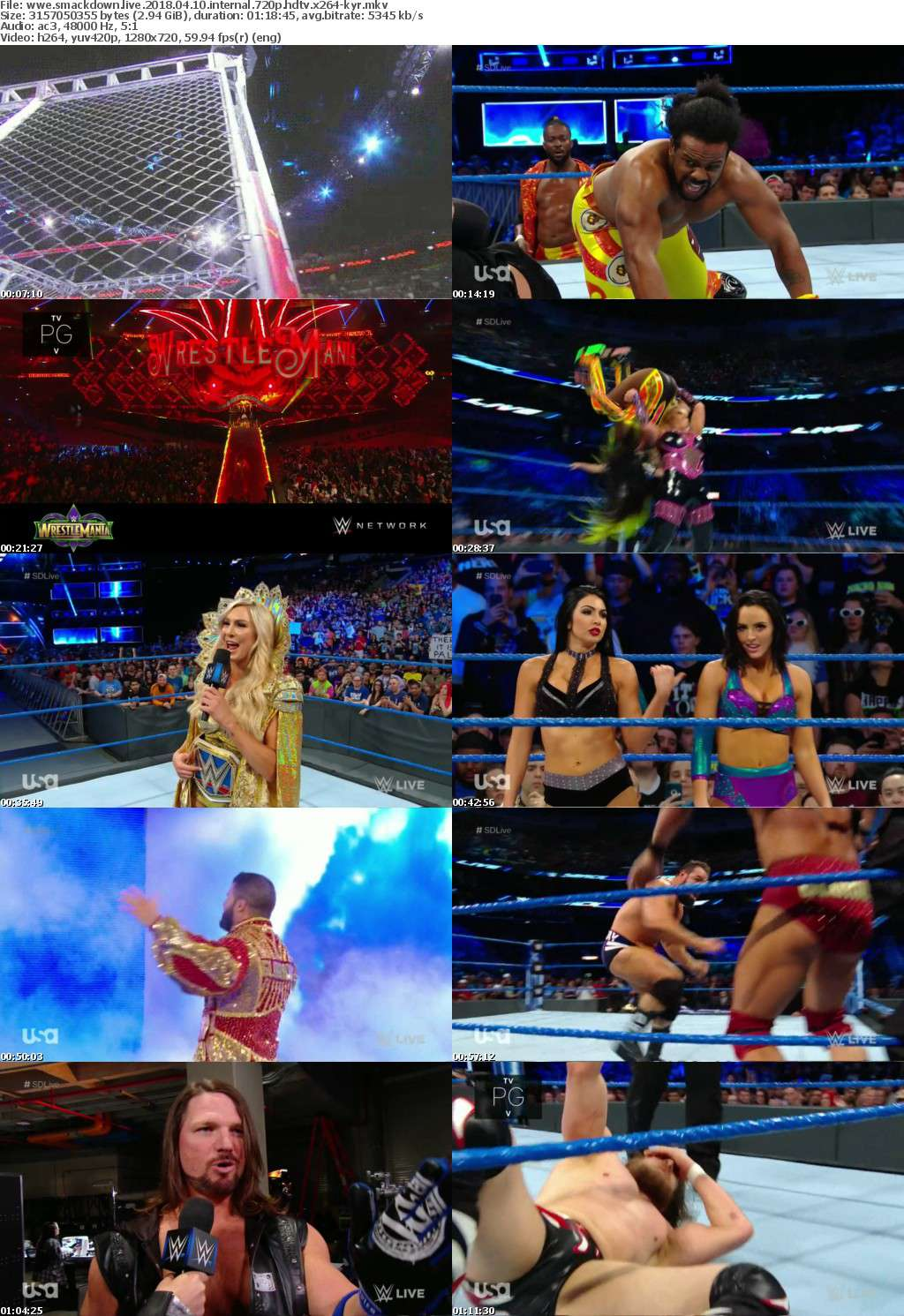 WWE SmackDown Live 2018 04 10 iNTERNAL 720p HDTV x264-KYR