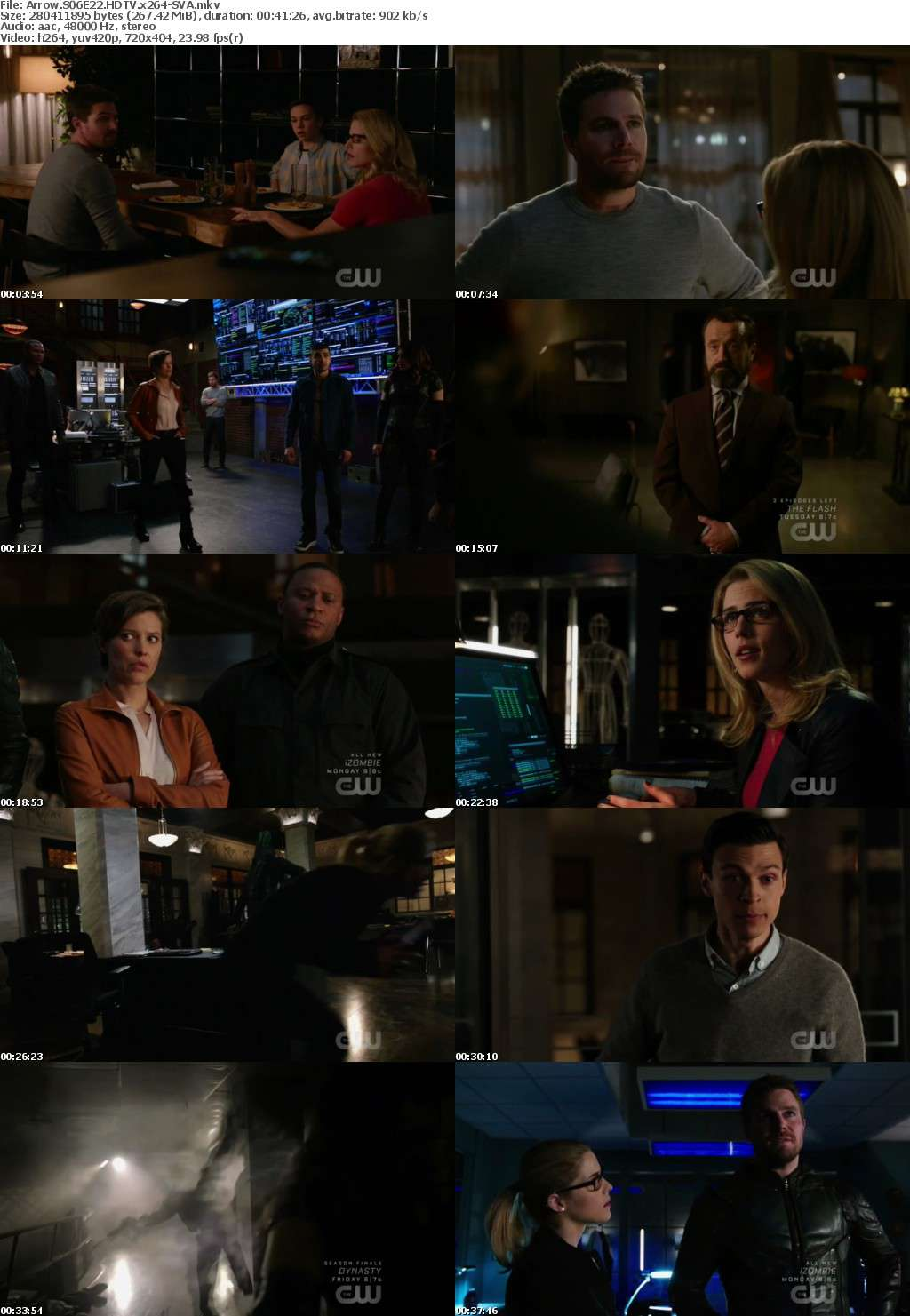 Arrow S06E22 HDTV x264-SVA