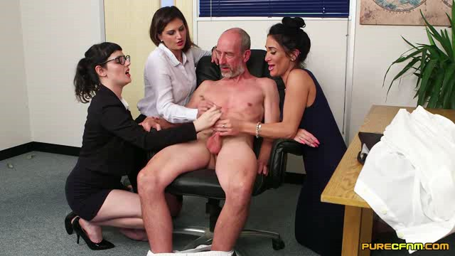 PureCFNM 18 05 11 Dion De Rossi Ella Bella And Eva Johnson Office After Hours XXX