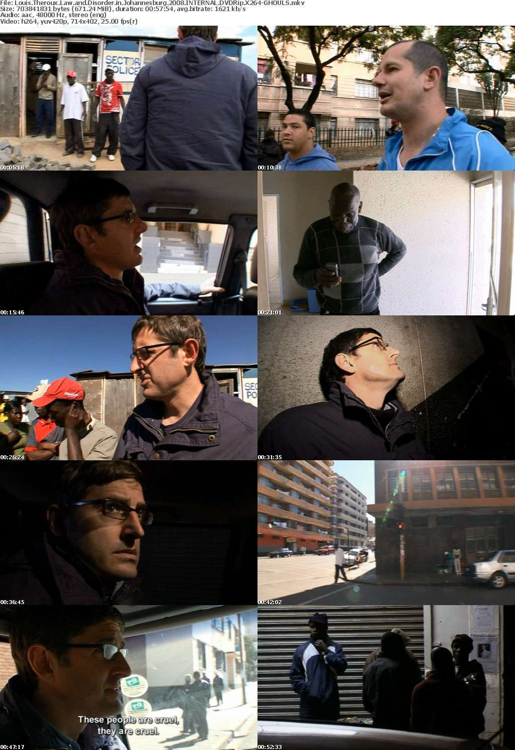 Louis Theroux Law and Disorder in Johannesburg 2008 INTERNAL DVDRip X264-GHOULS