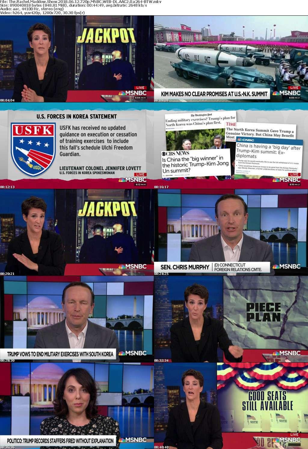 The Rachel Maddow Show 2018 06 12 720p MNBC WEB-DL AAC2 0 x264-BTW