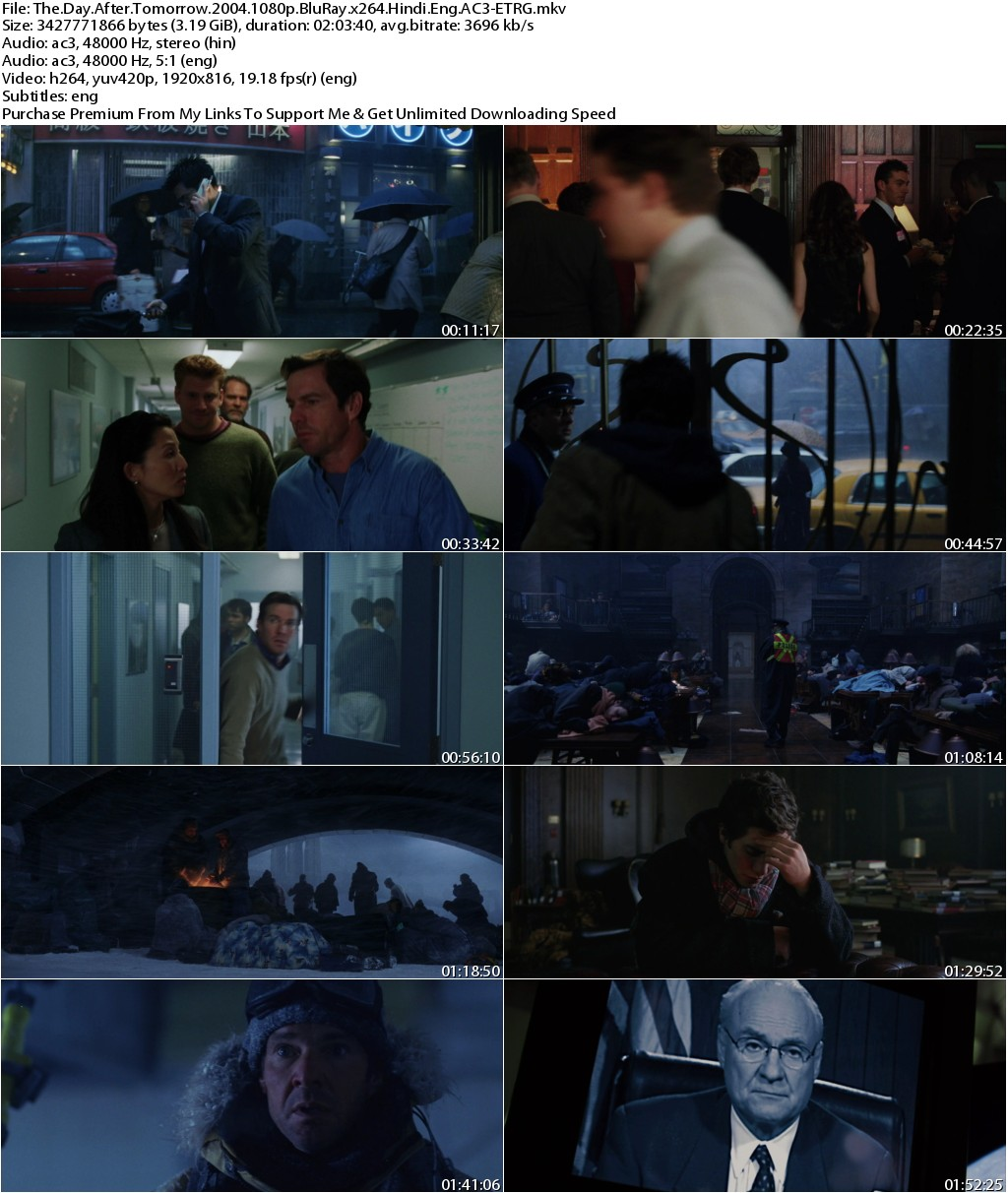 The Day After Tomorrow (2004) 1080p BluRay x264 [Hindi+Eng] AC3-ETRG