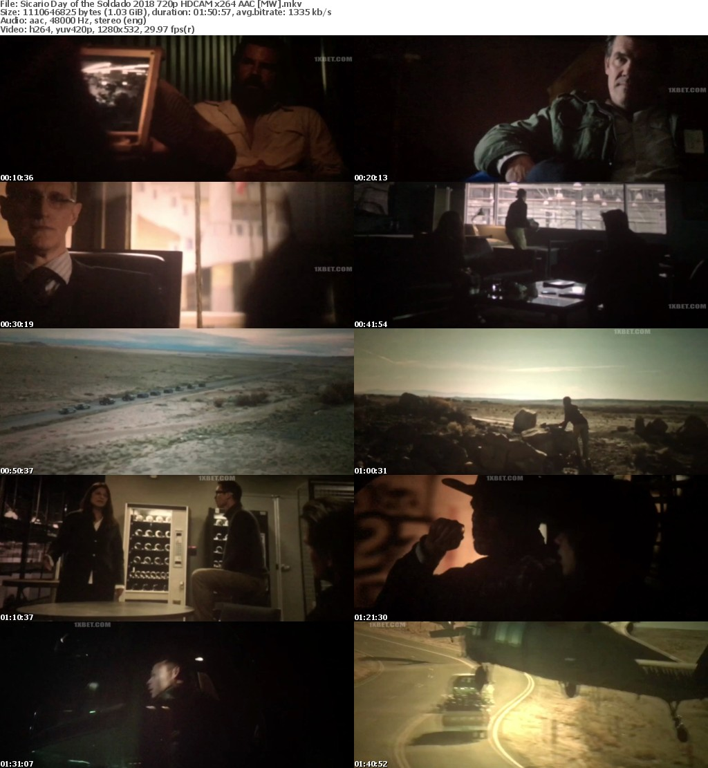 Sicario Day of the Soldado 2018 720p HDCAM x264 AAC MW