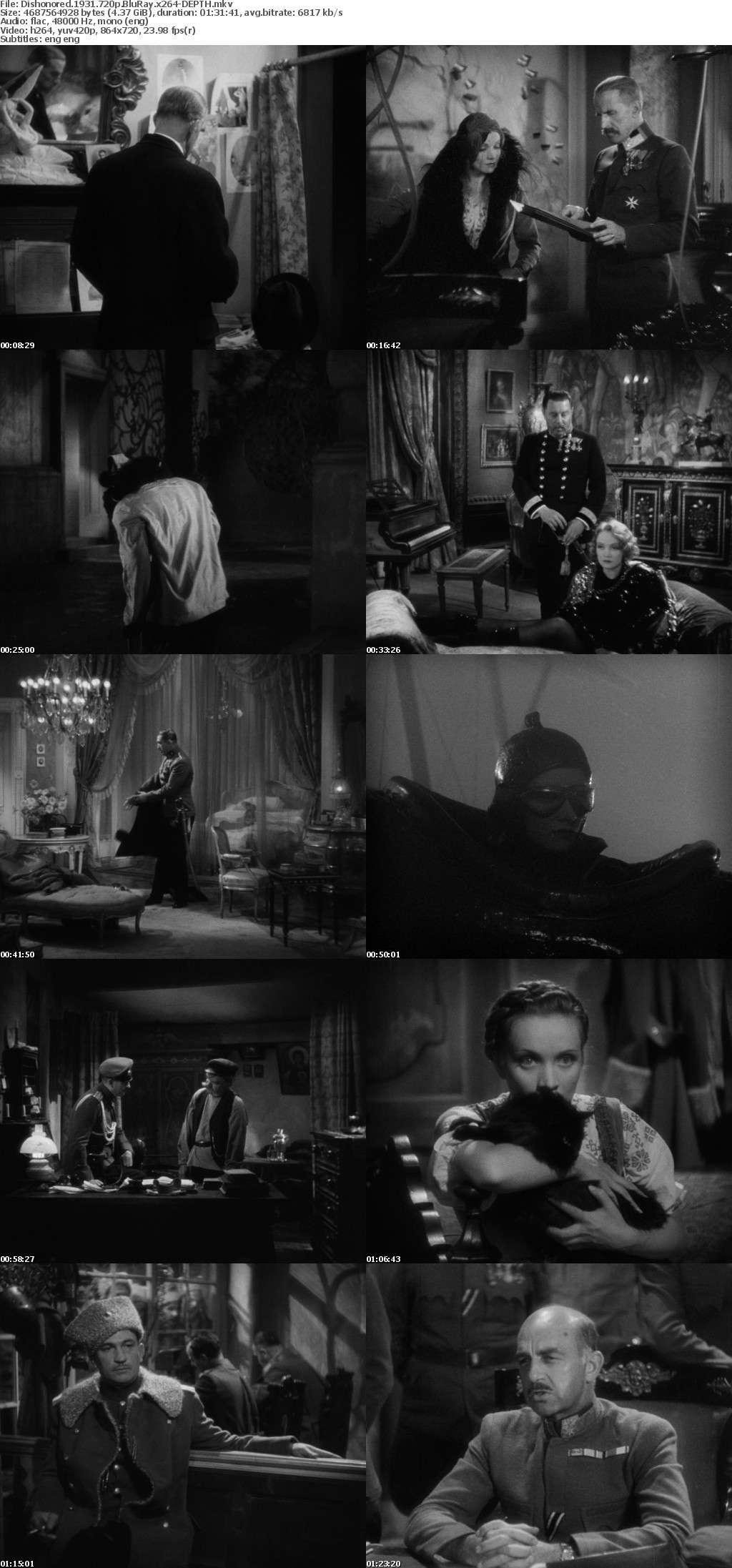 Dishonored 1931 720p BluRay x264-DEPTH