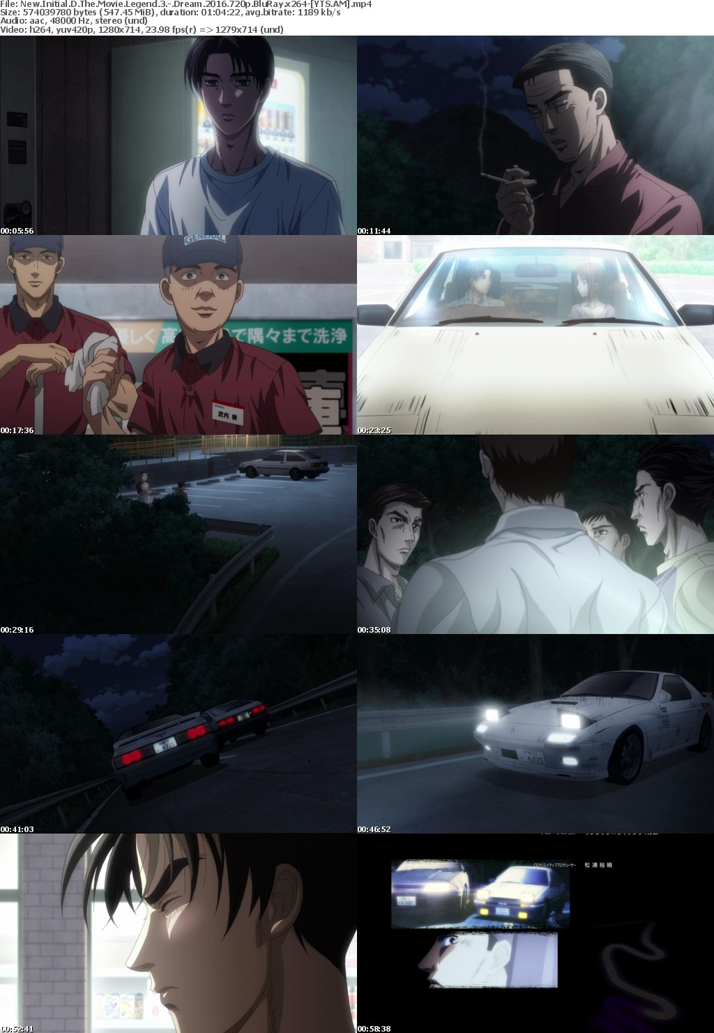 New Initial D the Movie Legend 3 - Dream (2016) [BluRay] [720p] YIFY