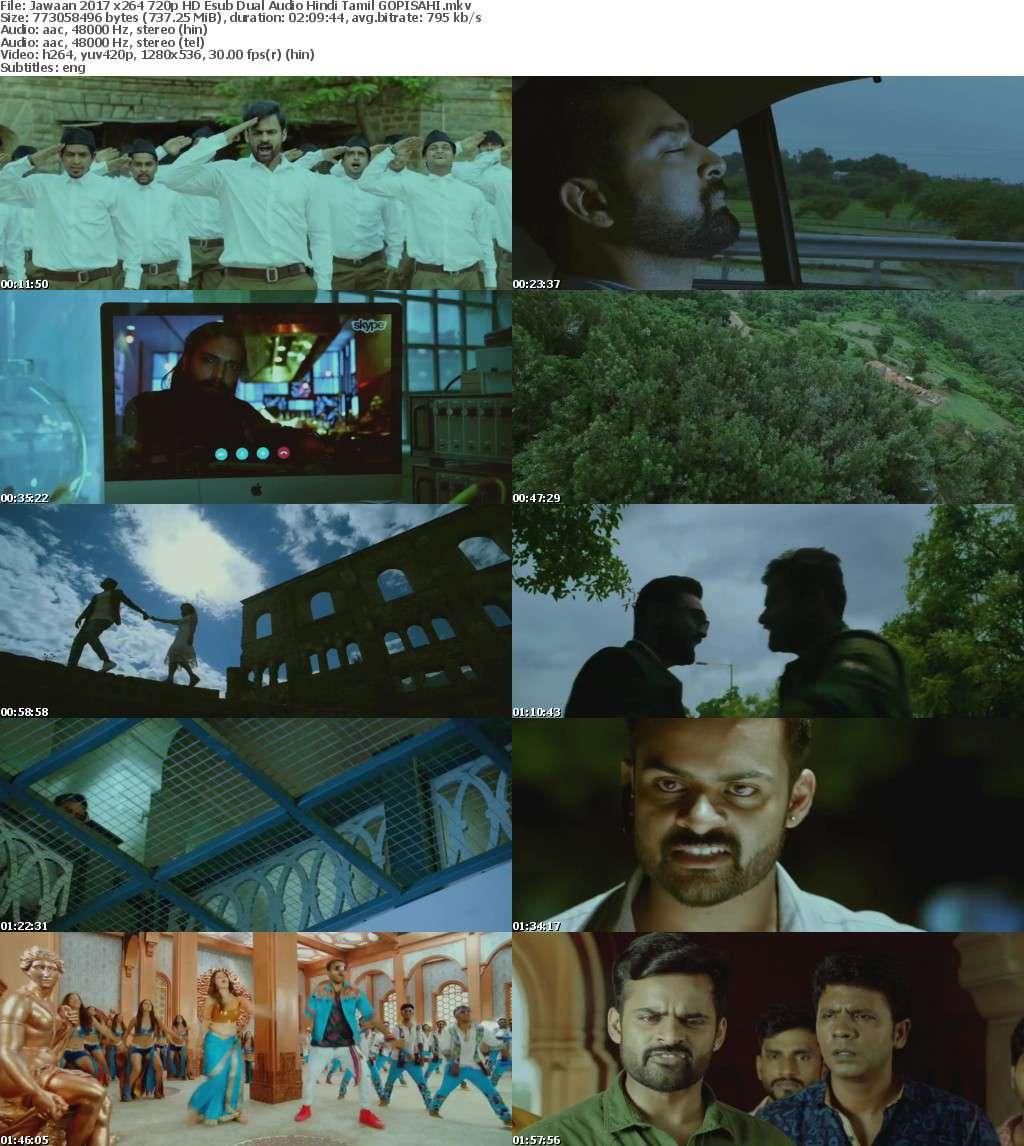 Jawaan 2017 x264 720p HD Esub Dual Audio Hindi Tamil GOPISAHI