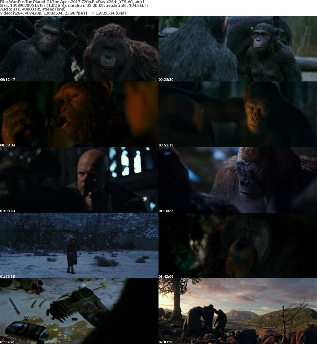 War for the Planet of the Apes (2017) [BluRay] [720p] YIFY