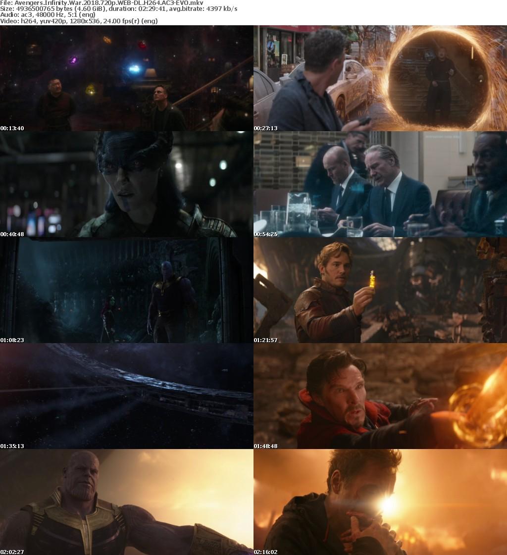 Avengers Infinity War 2018 720p WEB-DL H264 AC3-EVO