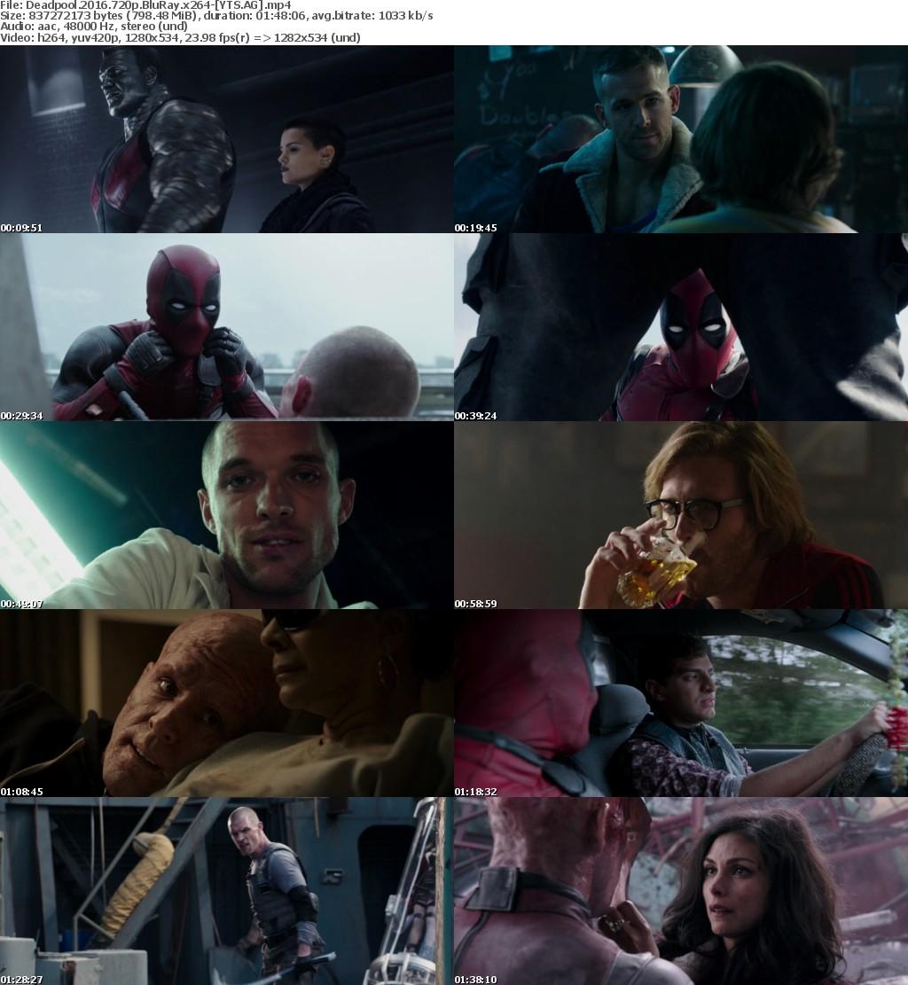 Deadpool (2016) [BluRay] [720p] YIFY