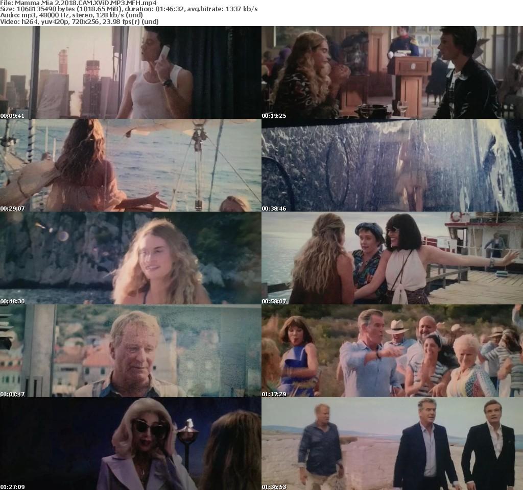 Mamma Mia 2 (2018) CAM XViD MP3 MFH