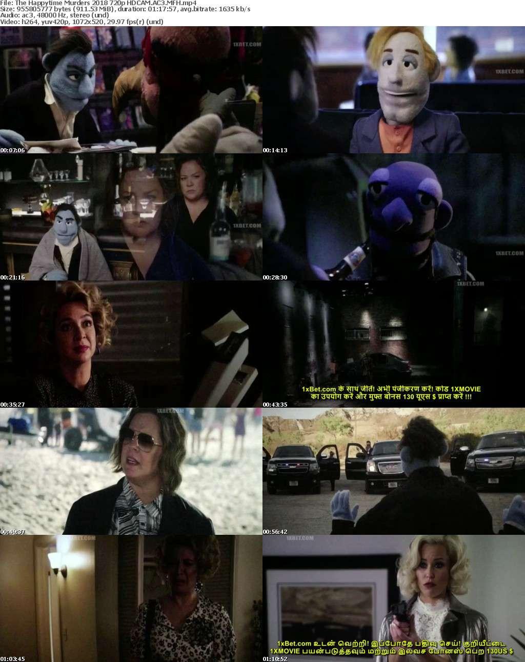 The Happytime Murders 2018 720p HDCAM AC3 MFH