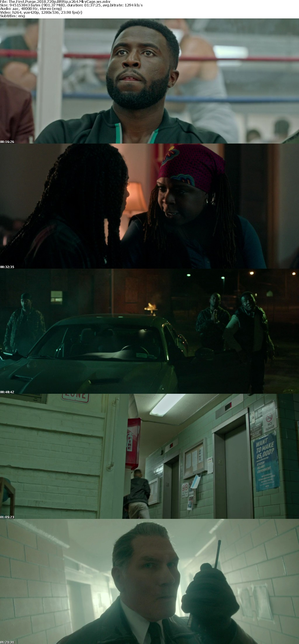 The First Purge (2018) 720p BRRip 900MB - MkvCage