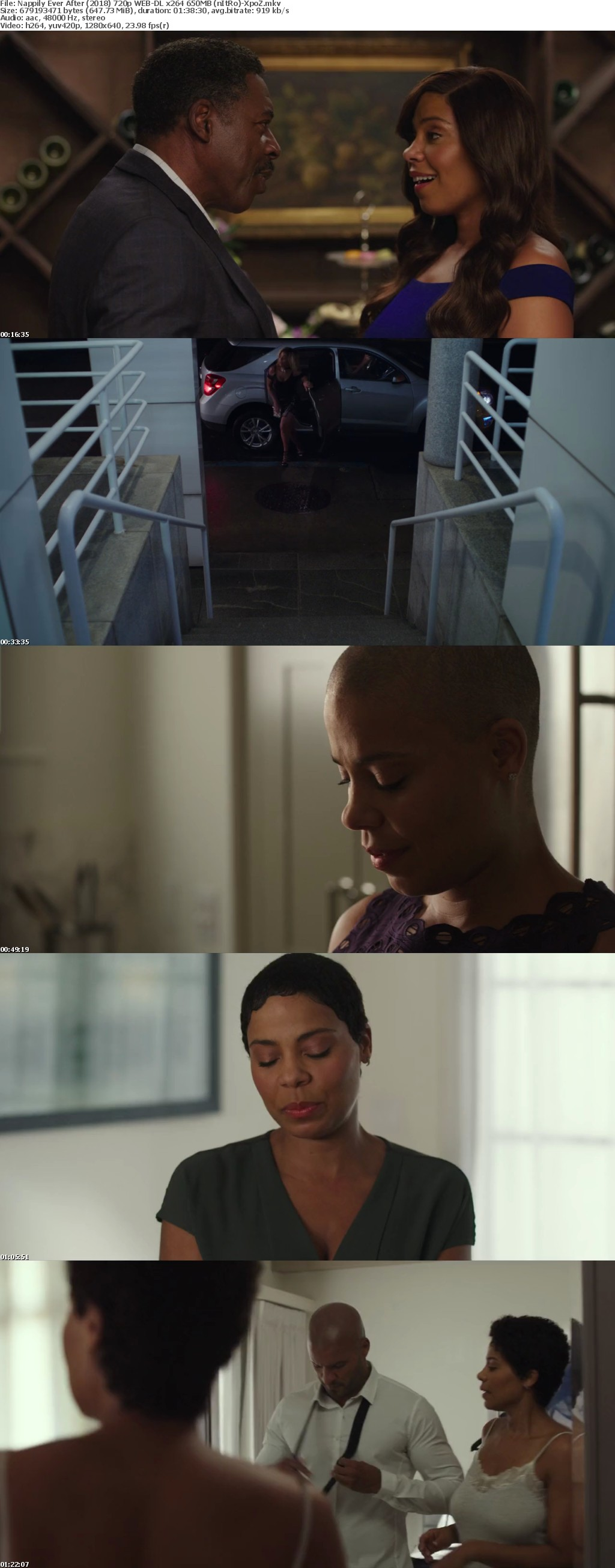 Nappily Ever After (2018) 720p WEB-DL x264 650MB (nItRo)-XpoZ