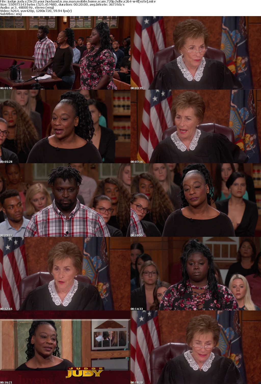 Judge Judy S23E23 Your Husband Is My Man Mobile Home Scam 720p HDTV x264-W4F
