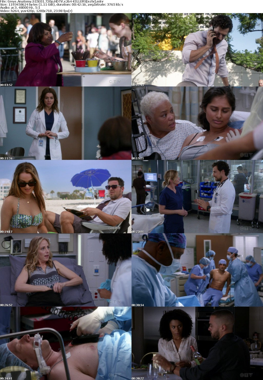 Greys Anatomy S15E01 720p HDTV x264-KILLERS