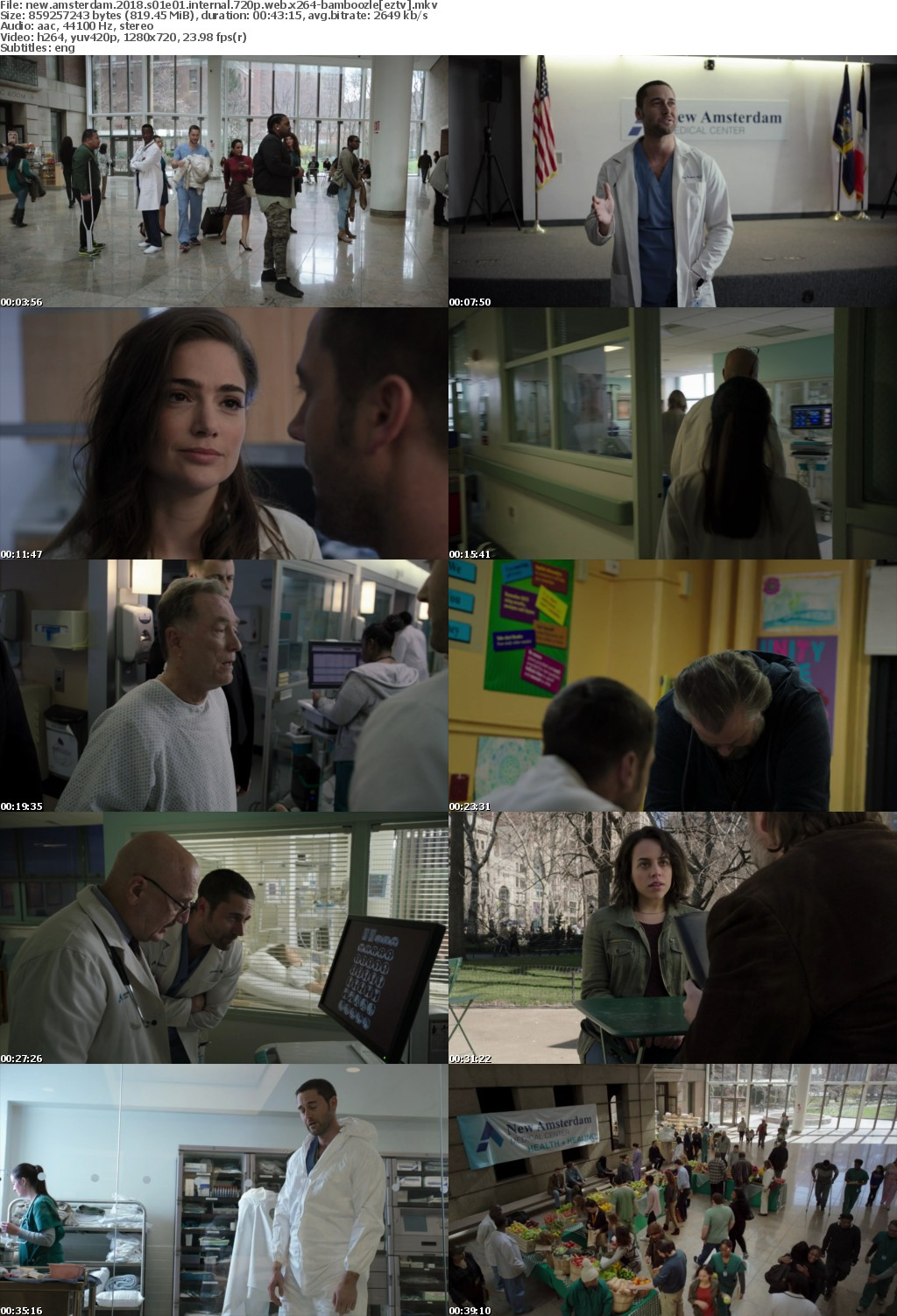 New Amsterdam (2018) S01E01 iNTERNAL 720p WEB x264-BAMBOOZLE