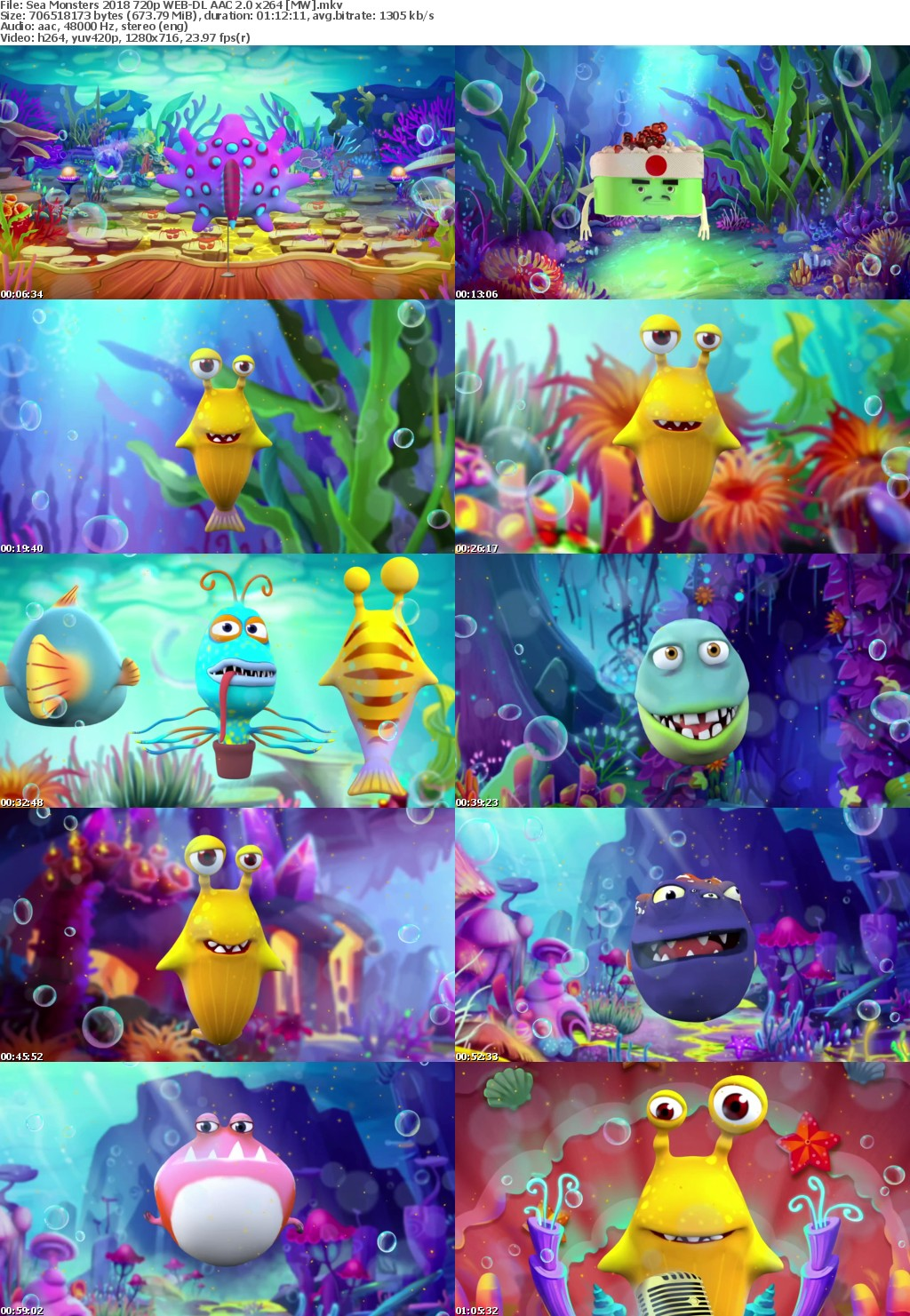 Sea Monsters (2018) 720p WEB-DL AAC 2.0 x264 MW