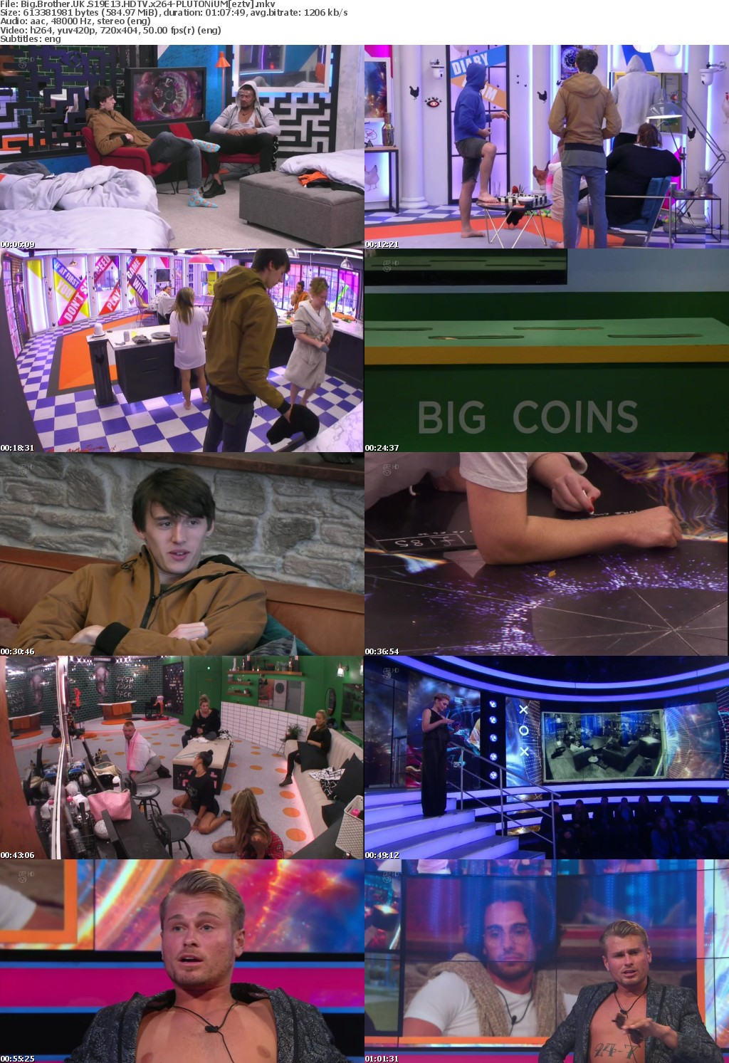 Big Brother UK S19E13 HDTV x264-PLUTONiUM