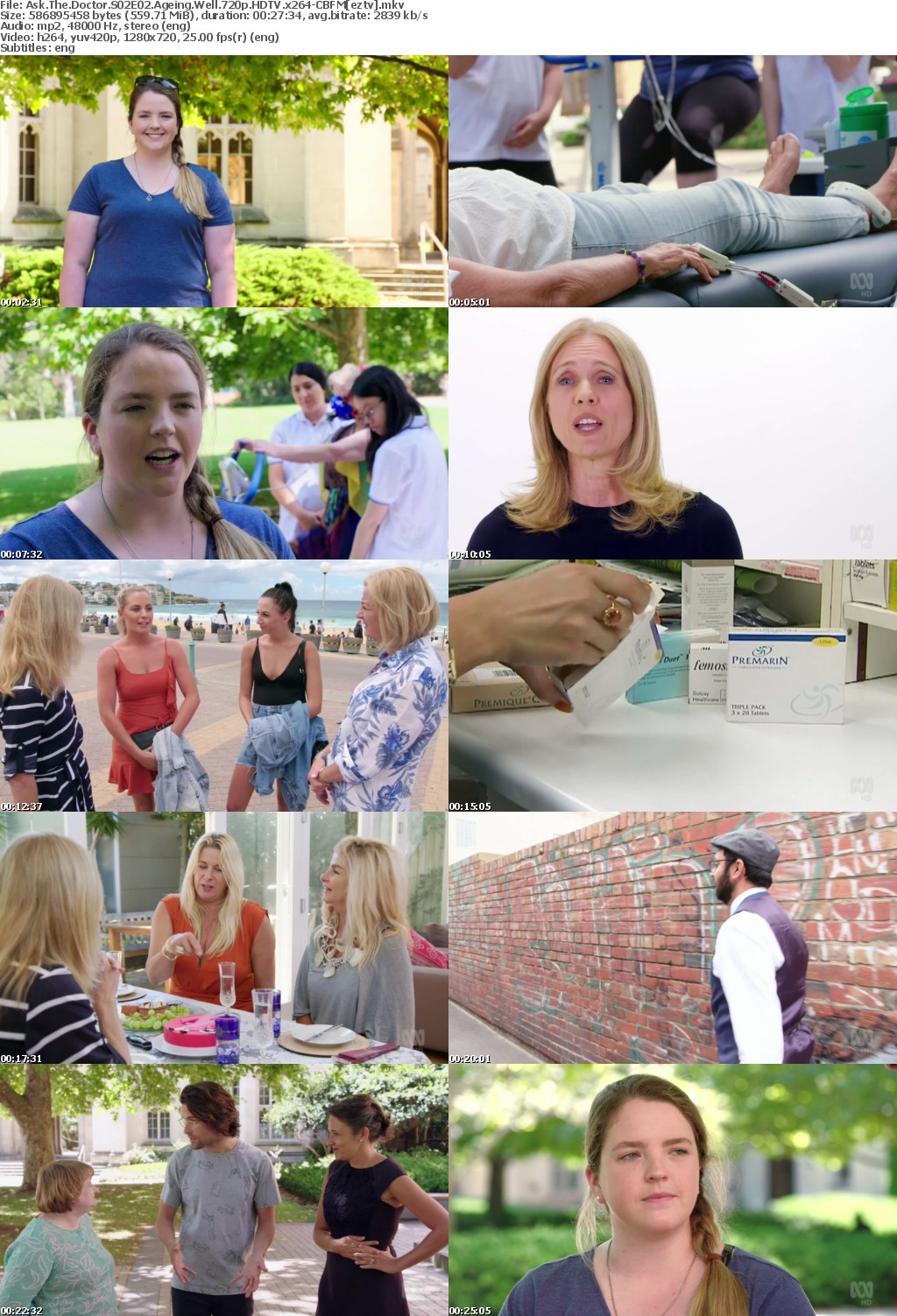 Ask The Doctor S02E02 Ageing Well 720p HDTV x264-CBFM