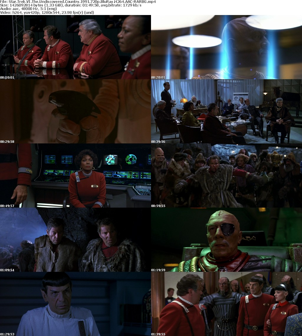 Star Trek VI The Undiscovered Country (1991) 720p BluRay H264 AAC-RARBG