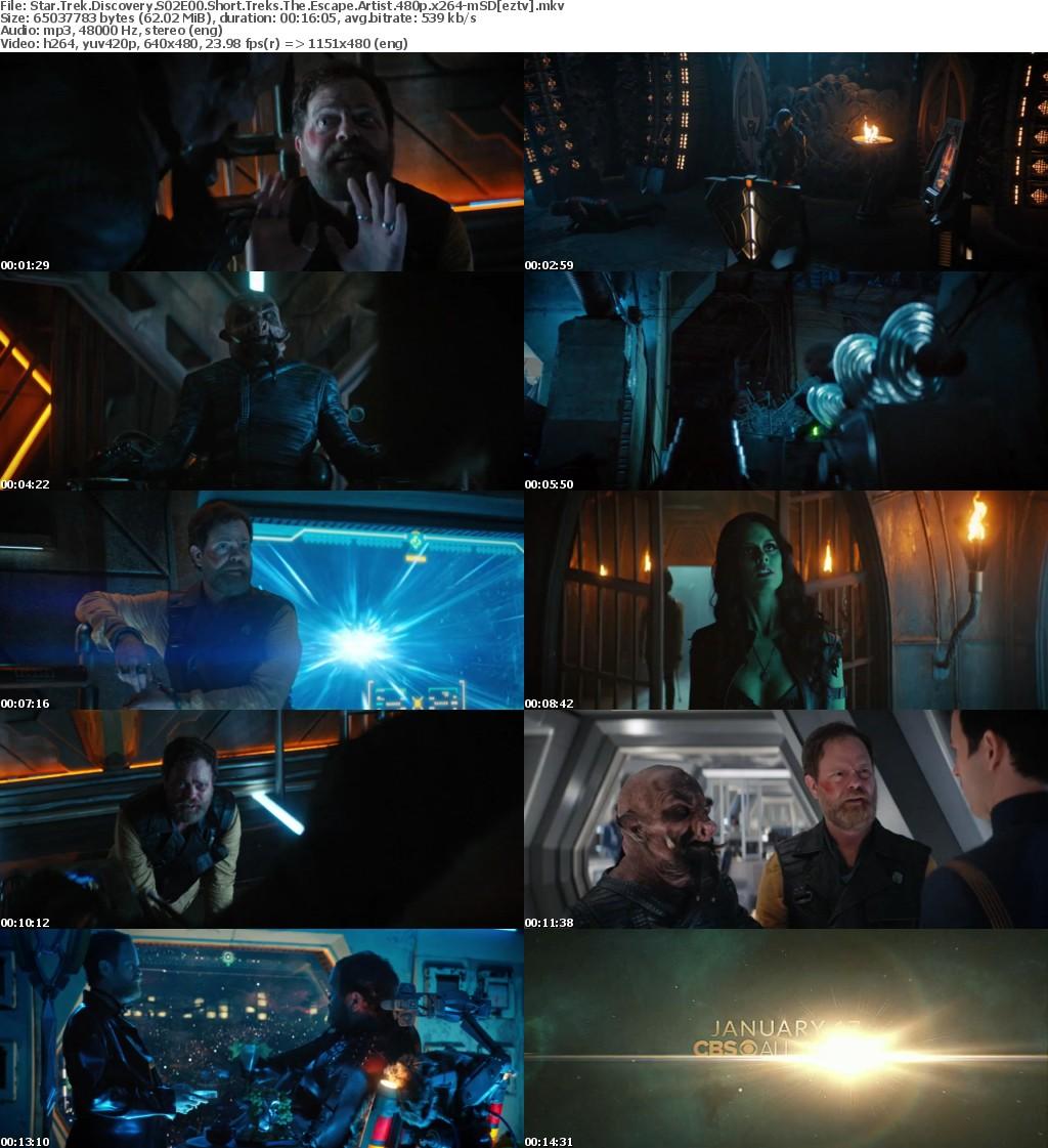 Star Trek Discovery S02E00 Short Treks The Escape Artist 480p x264-mSD