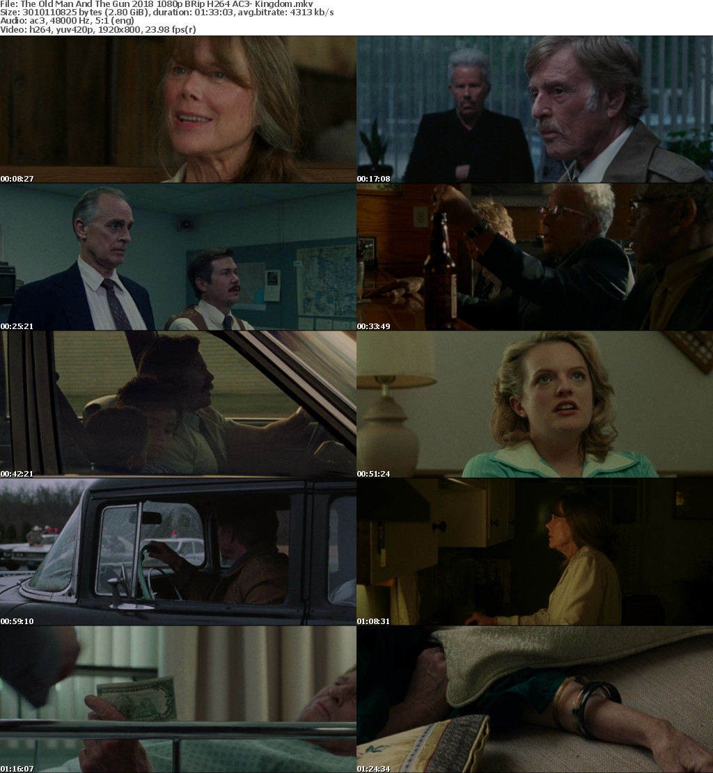 The Old Man And The Gun (2018) 1080p BRRip H264 AC3- Kingdom