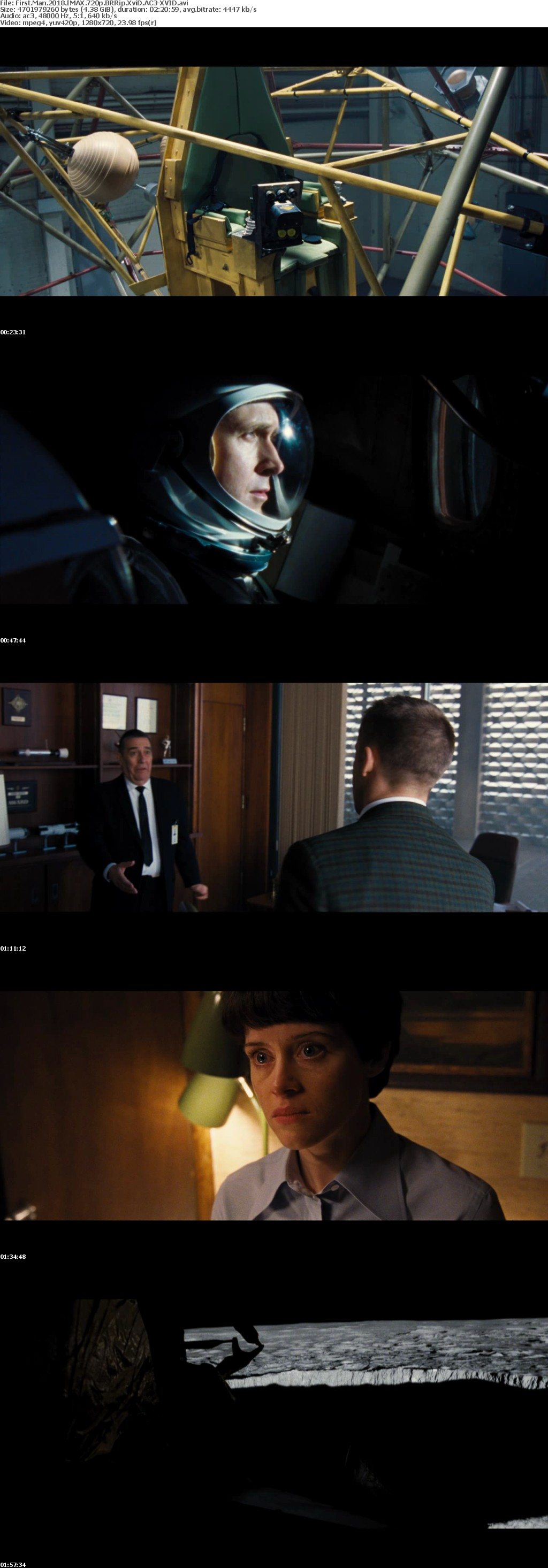 First Man 2018 IMAX 720p BRRip XviD AC3-XVID