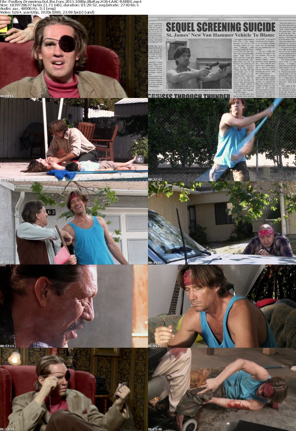 Poolboy Drowning Out the Fury (2011) 1080p BluRay H264 AAC-RARBG