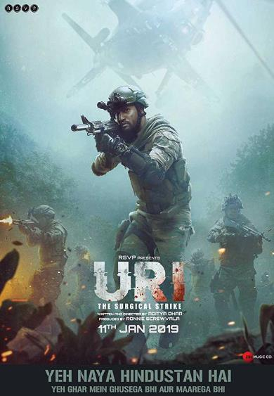 Uri The Surgical Strike (2019) Hindi 720p HDRip x264-DLW