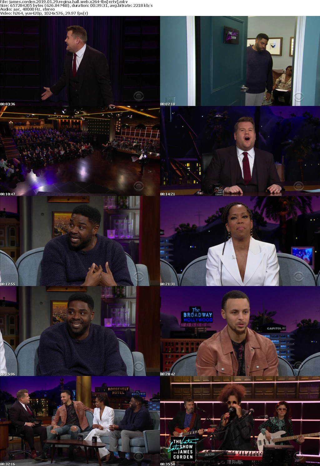 James Corden (2019) 01 29 Regina Hall WEB x264-TBS