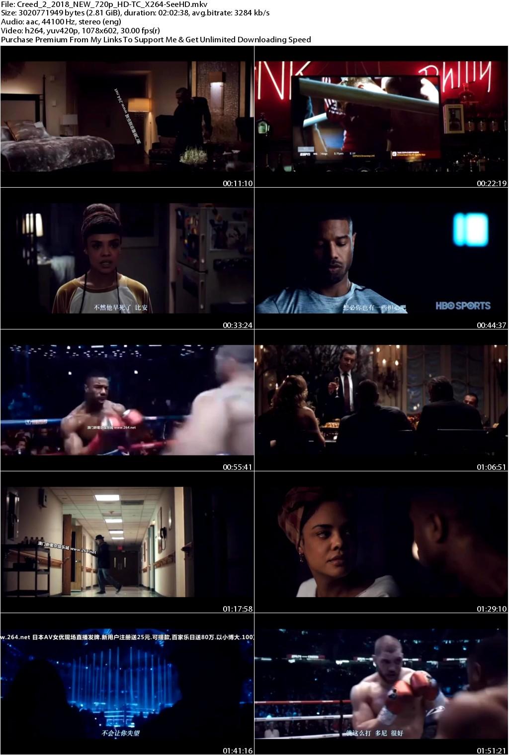 Creed 2 (2018) NEW 720p HD-TC X264-SeeHD
