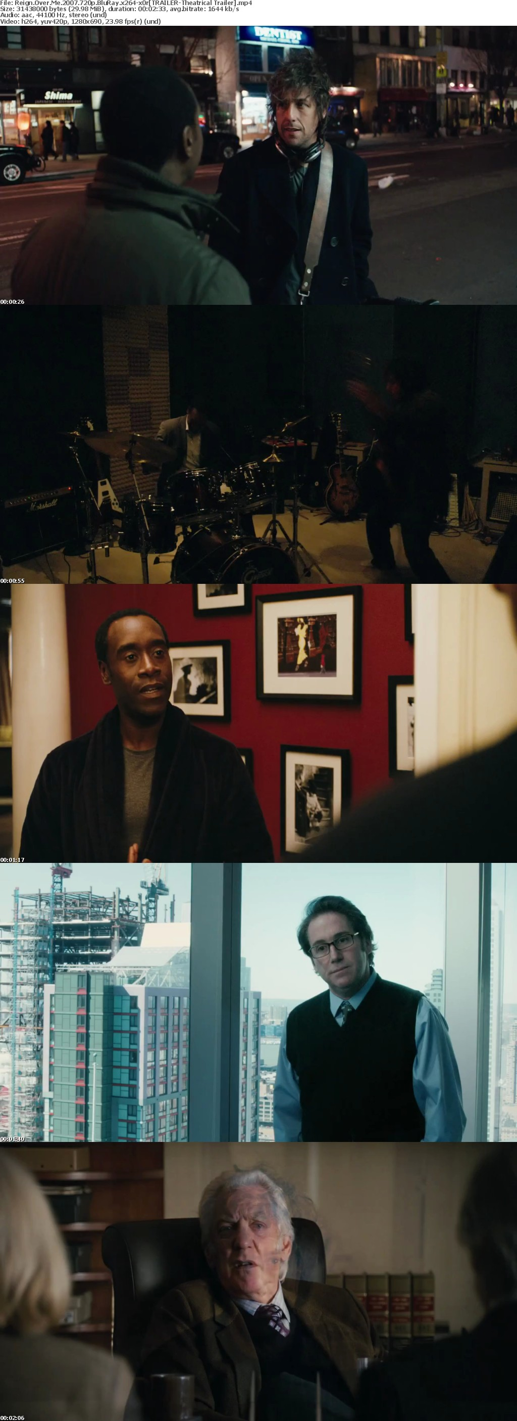 Reign Over Me 2007 720p BluRay x264-x0r
