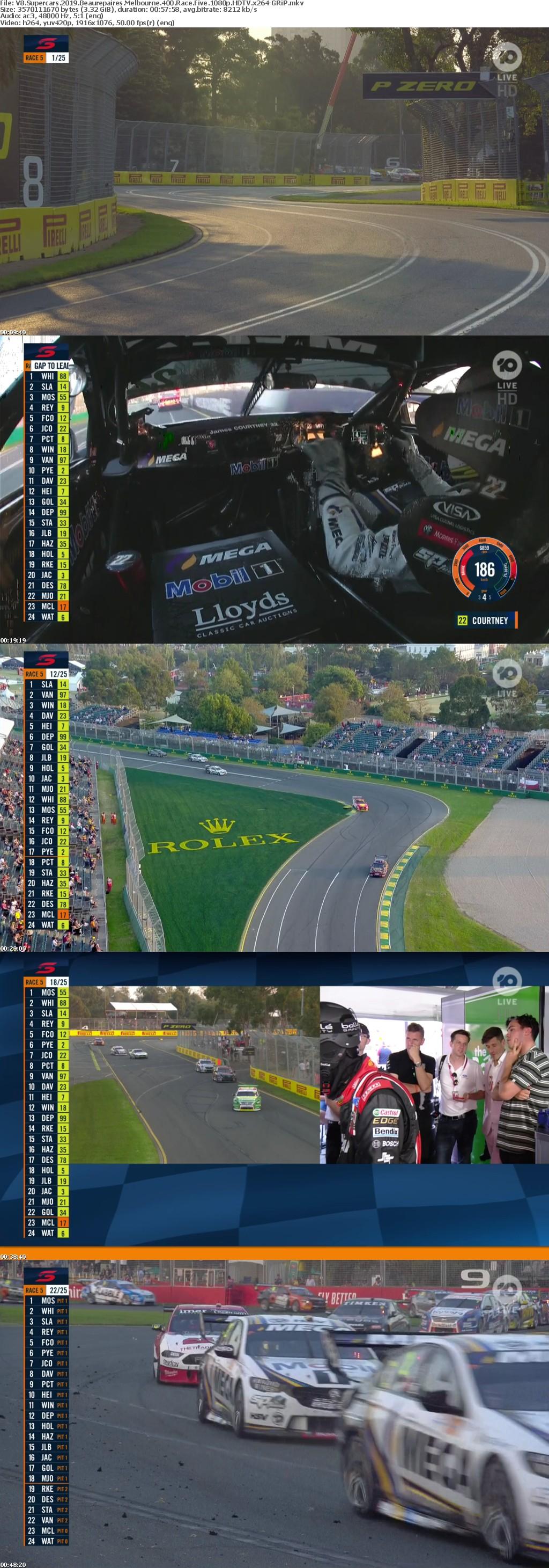V8 Supercars 2019 Beaurepaires Melbourne 400 Race Five 1080p HDTV x264-GRiP