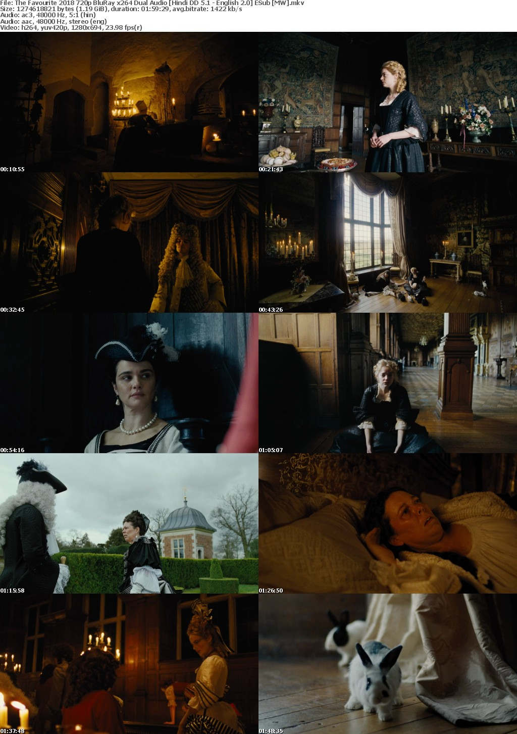 The Favourite (2018) 720p BluRay x264 Dual Audio Hindi DD 5.1 - English 2.0 ESub MW