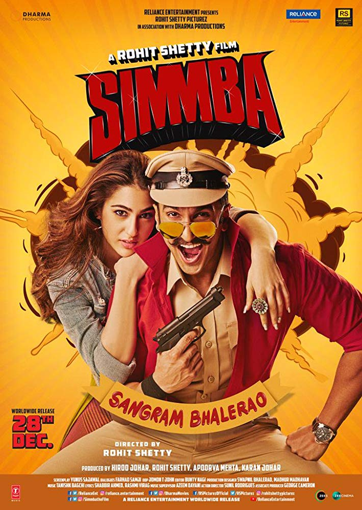 Simmba 2018 BluRay Hindi 720p x264 AAC 5 1 ESub - mkvCinemas [Telly]