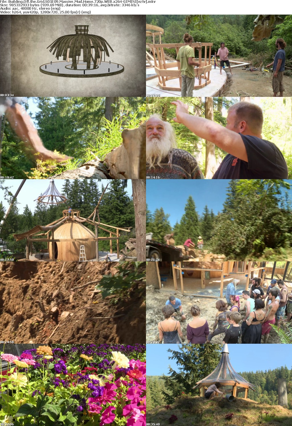 Building Off the Grid S01E09 Massive Mud Home 720p WEB x264 GIMINI