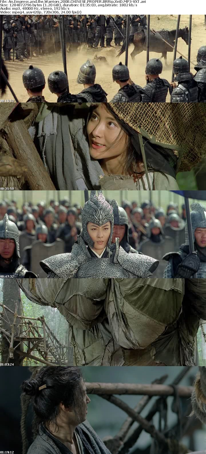An Empress and the Warriors 2008 CHINESE PROPER BRRip XviD MP3-VXT