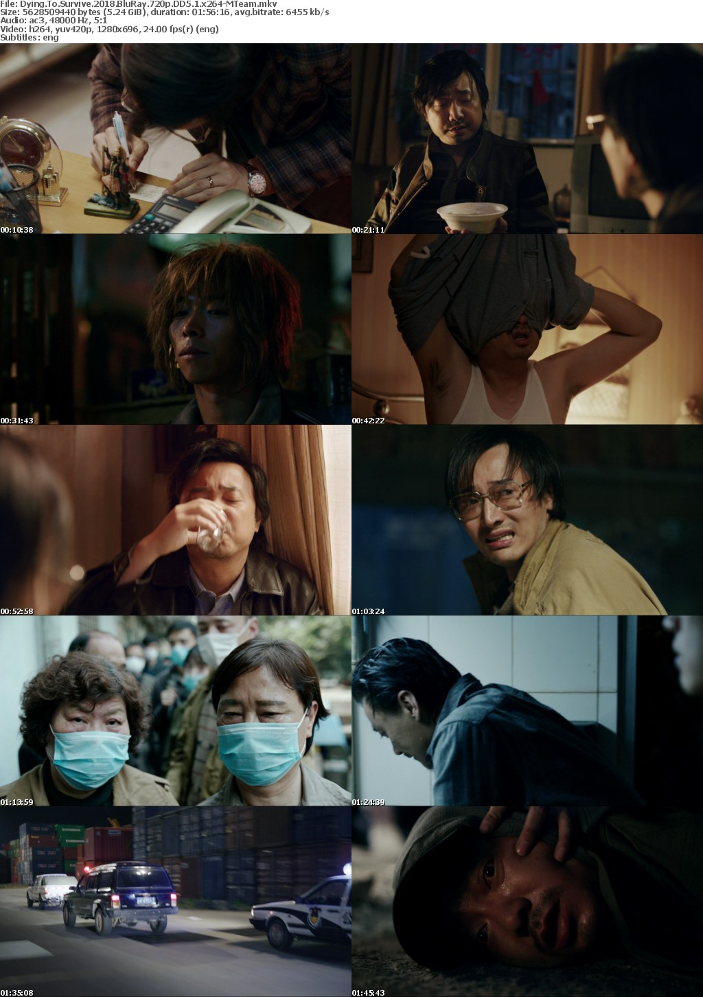 Dying To Survive 2018 720p BluRay DD 5 1 x264-MTeam