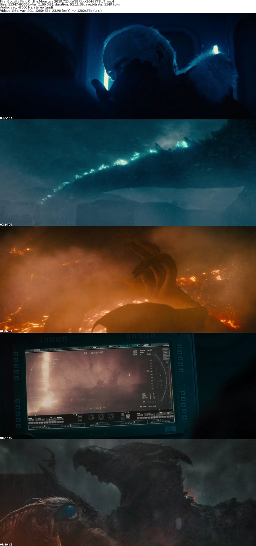 Godzilla King of the Monsters 2019 [WEBRip] [720p] YIFY