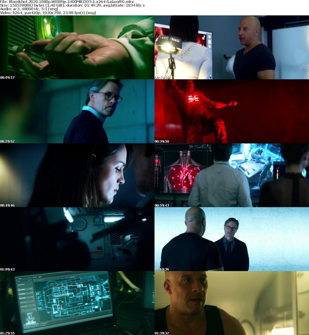 Bloodshot (2020) 1080p WEBRip 1400MB DD5.1 x264-GalaxyRG