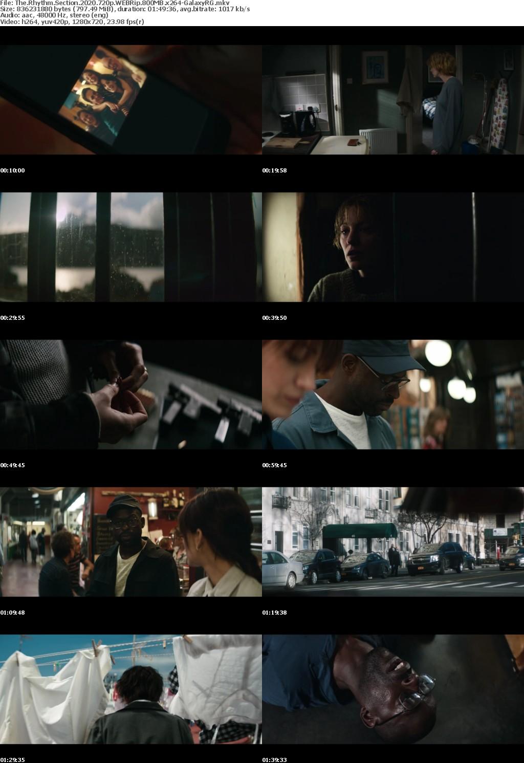 The Rhythm Section (2020) 720p WEBRip 800MB x264-GalaxyRG