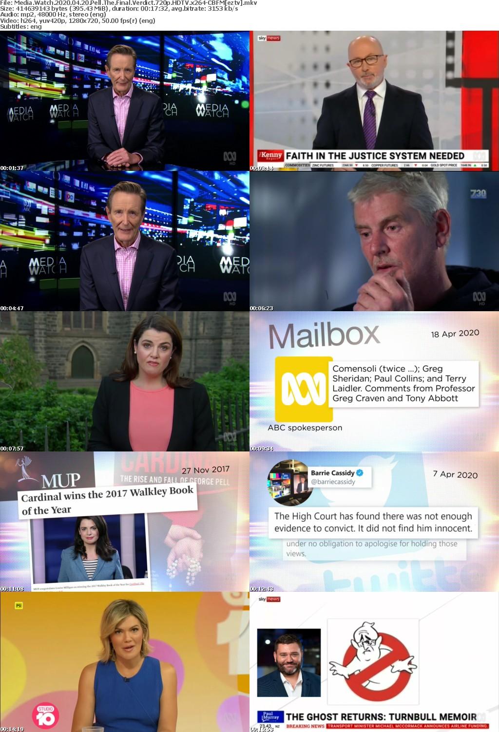 Media Watch 2020 04 20 Pell The Final Verdict 720p HDTV x264-CBFM