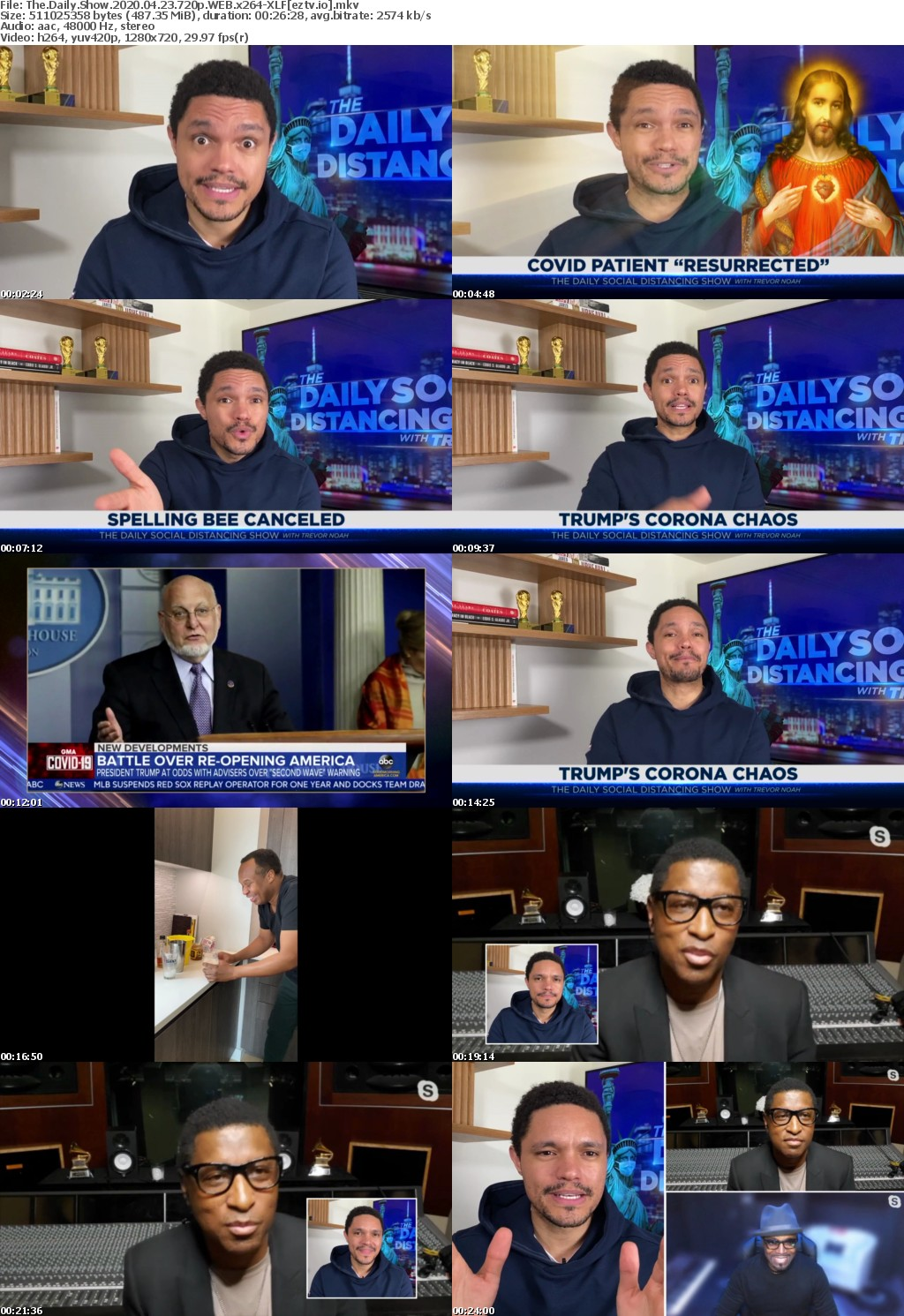 The Daily Show 2020 04 23 720p WEB x264-XLF