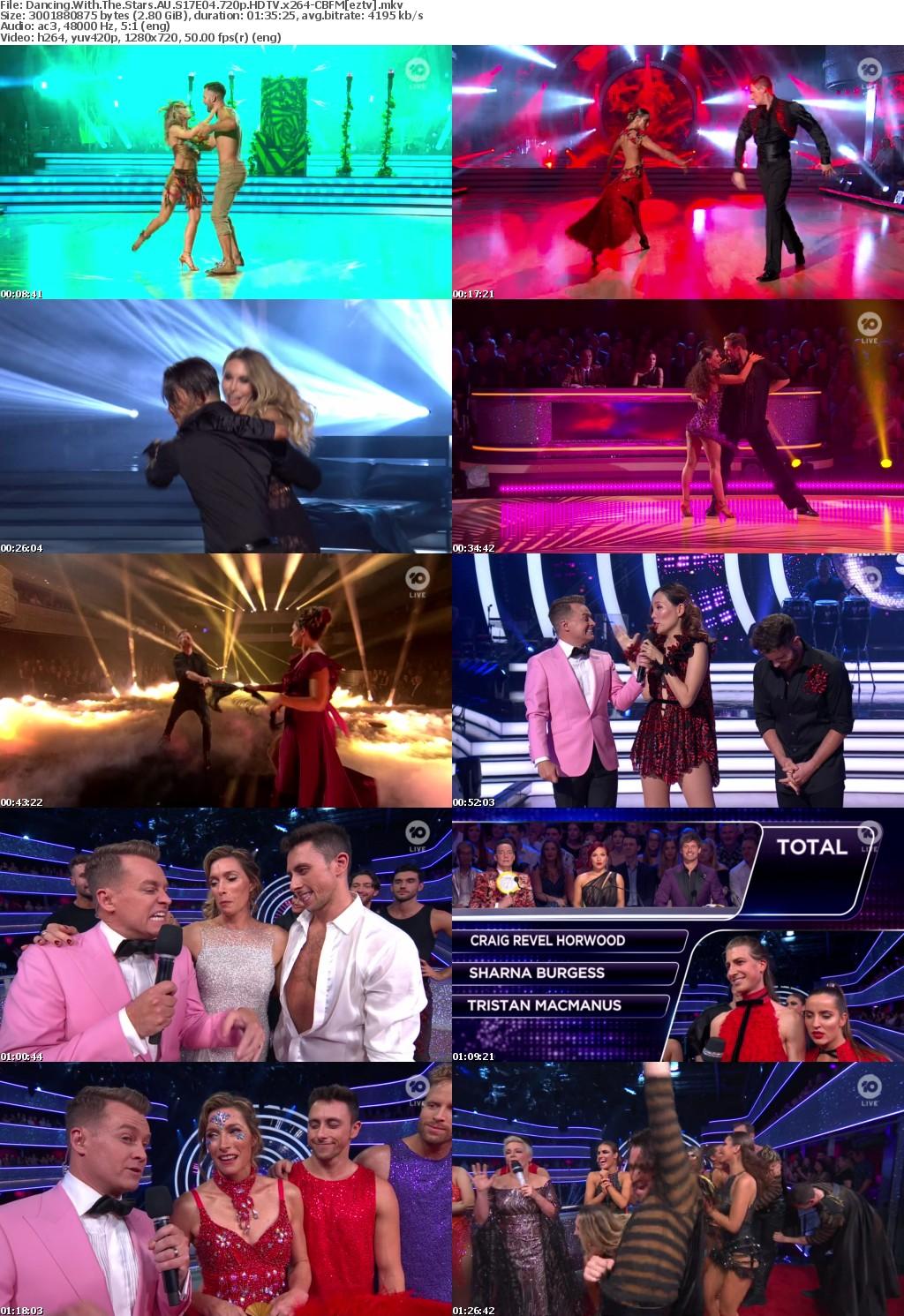Dancing With The Stars AU S17E04 720p HDTV x264-CBFM