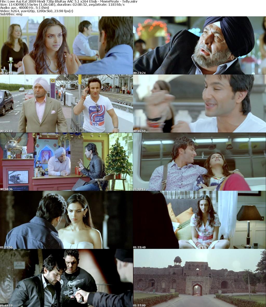 Love Aaj Kal 2009 Hindi 720p BluRay AAC 5 1 x264 ESub - MoviePirate - Telly mkv