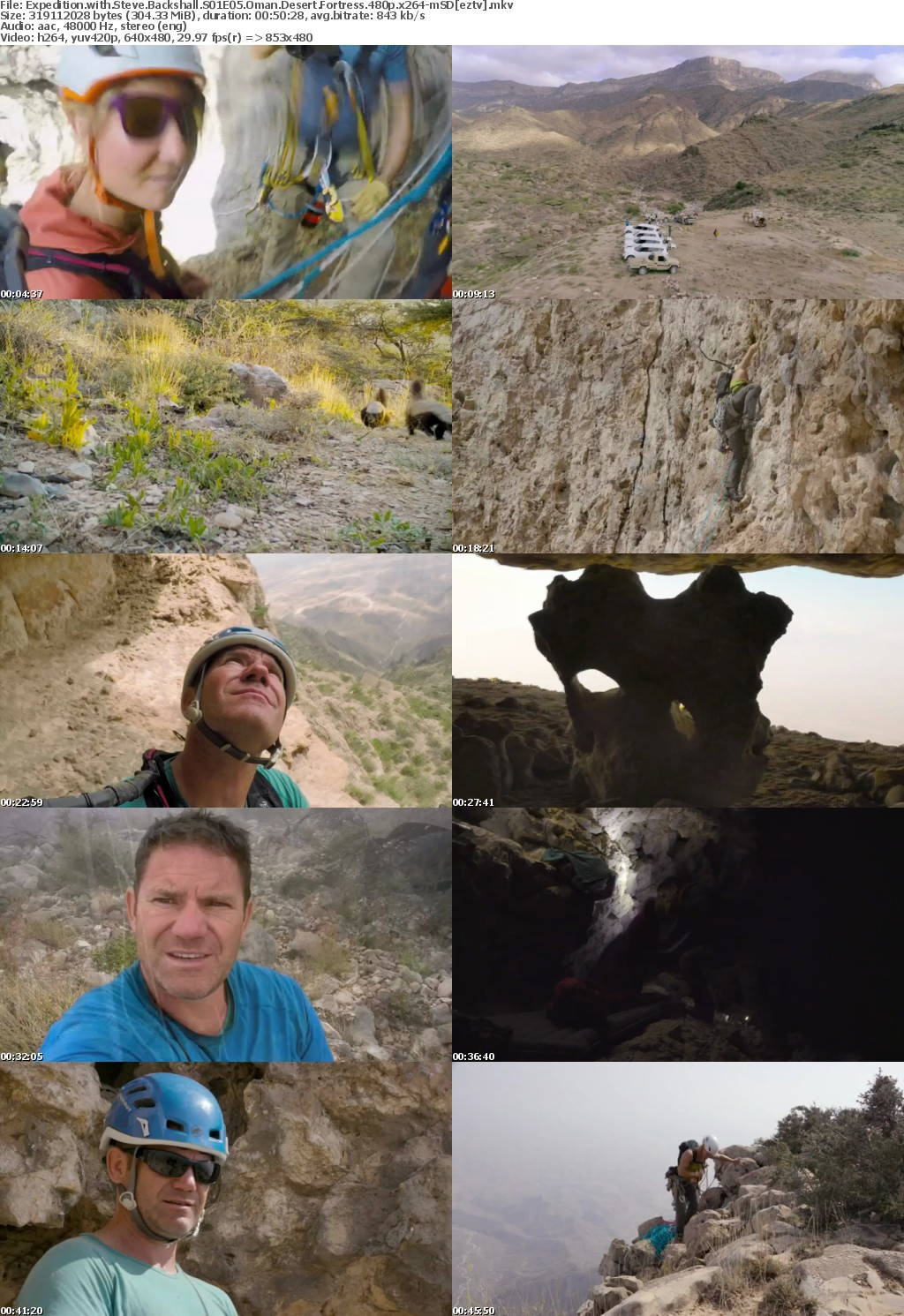 Expedition with Steve Backshall S01E05 Oman Desert Fortress 480p x264-mSD