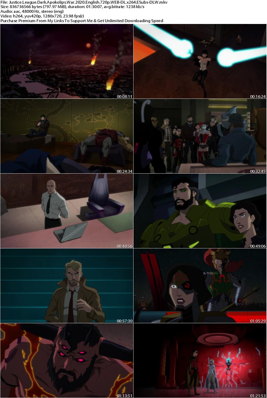 Justice League Dark Apokolips War (2020) English 720p WEB-DL x264 ESubs-DLW