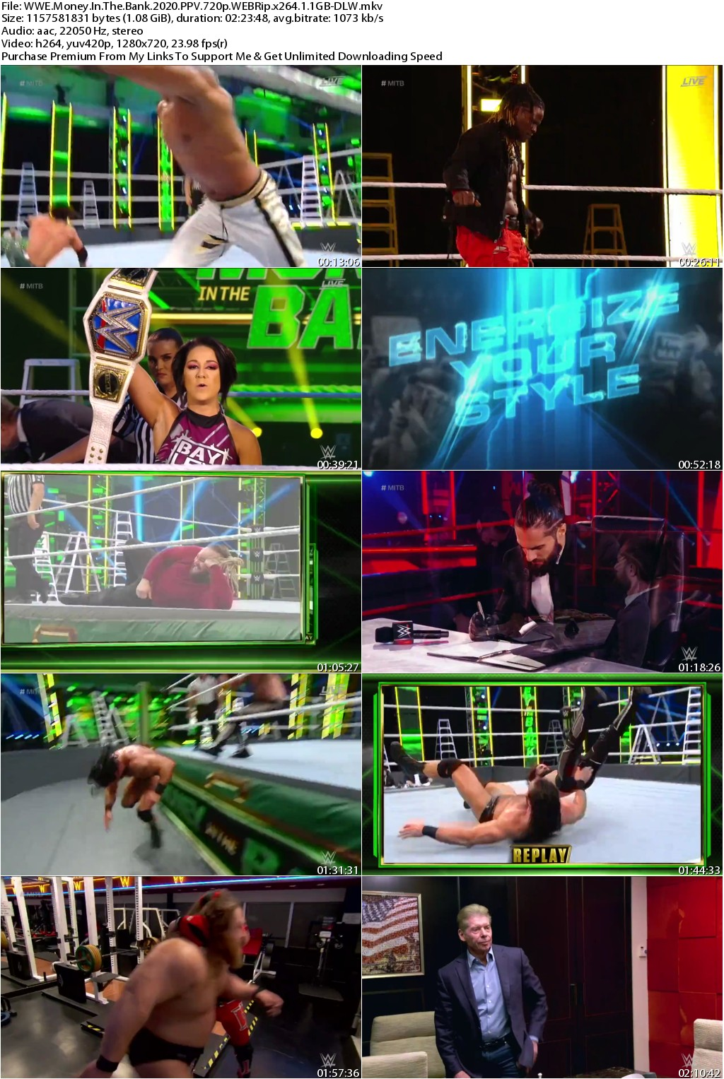 WWE Money In The Bank 2020 PPV 720p WEBRip x264 1 1GB-DLW