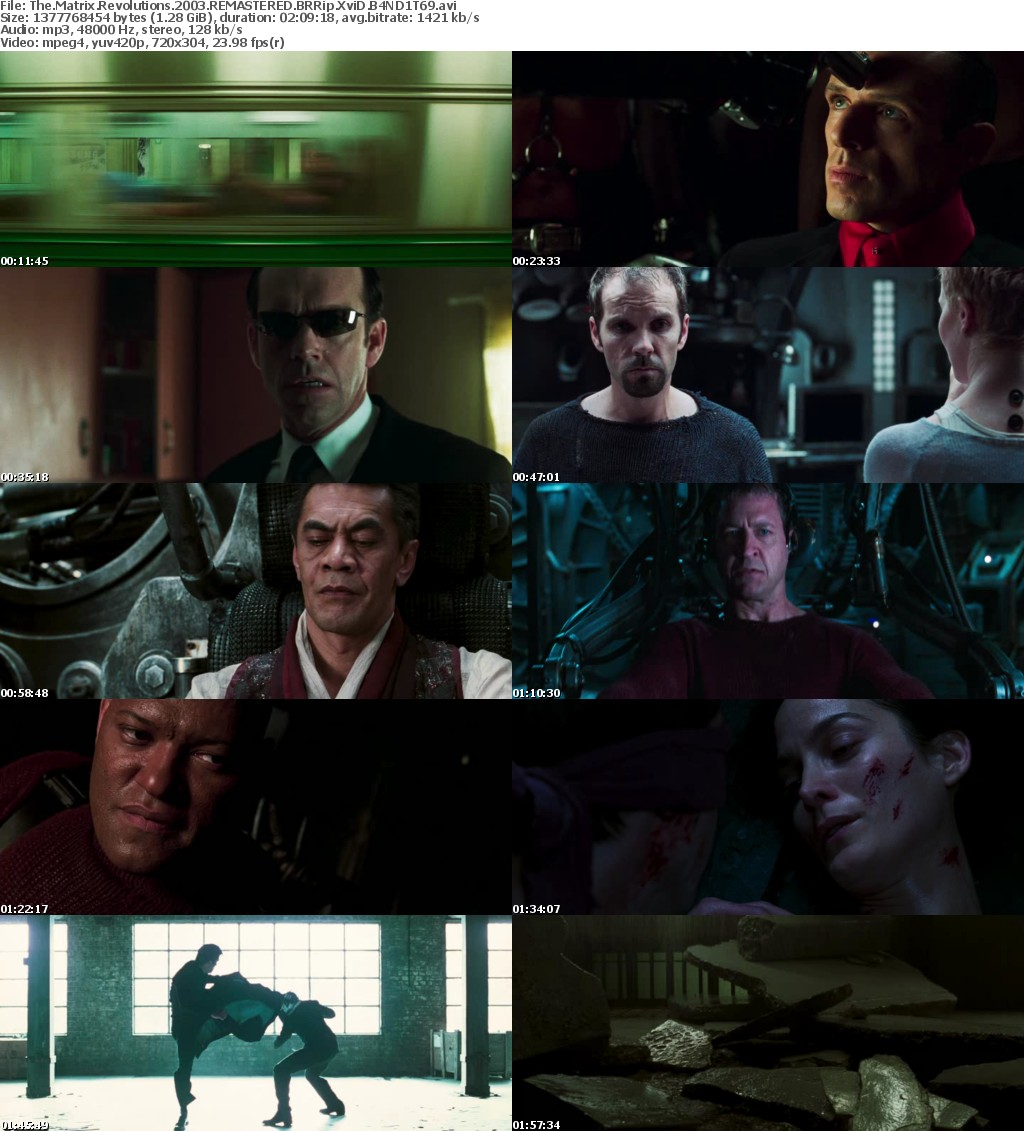 The Matrix Revolutions (2003) REMASTERED BRRip XviD B4ND1T69